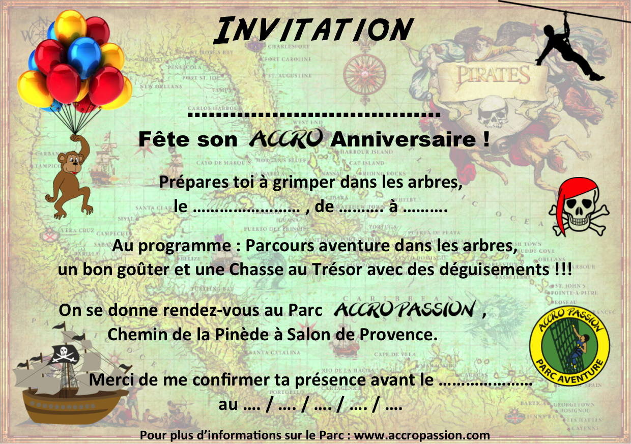 Formule 4 ACCRO & MAXI CHASSE THEME PIRATES